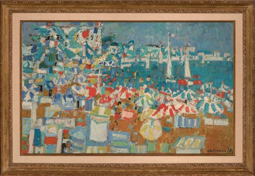 cottavoz-1953-vue-de-cannes-73x116-auction-Doyle-new-york-le-15.10